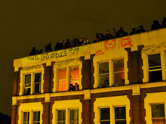Eviction party for the Clifton Mansion squats on Coldharbour Lane, Brixton SW9, 11th July 2011, 2nd May 2011