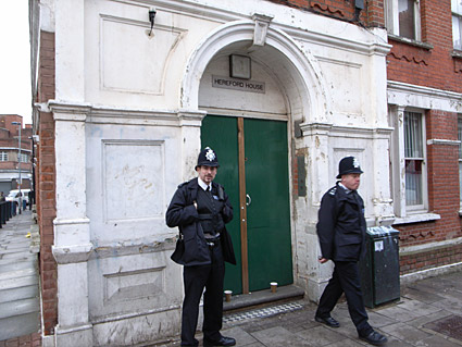 Squats evicted, Ruschcroft Road, Brixton, London, SW9, March 2009