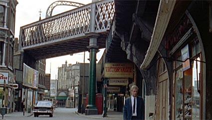 Michael Caine as Alfie in Atlantic Rd, Brixton, 1966, London