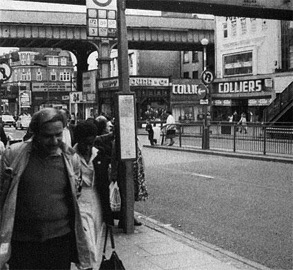 The Brixton Footbridge, Brixton Road, London SW9. Historical photos and posters, Brixton, London SW9 8PY, 1897-2008