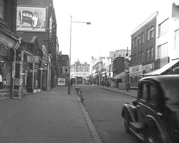 Things Are Looking Up >> Brixton history - looking west along Coldharbour Lane, Brixton SW9, Lambeth, London 1958 and 2012