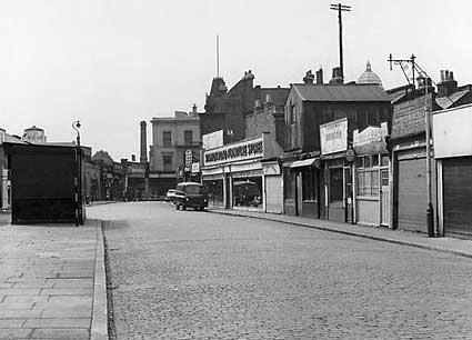 Brixton Station Road looking west towards Brixton Road, Brixton, 1964