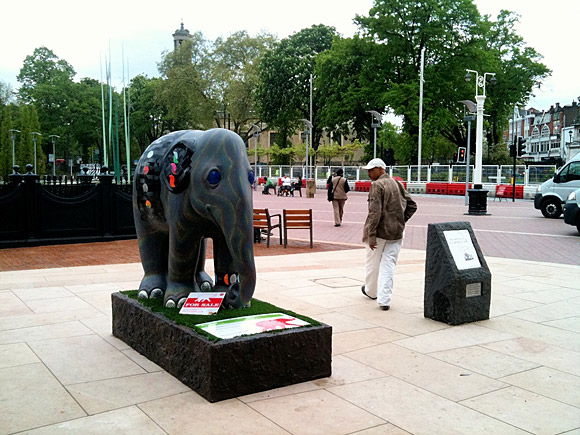 Elephant in Windrush Square, Brixton