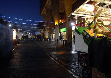 Brixton: rubbish Xmas decorations