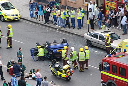 Coldharbour Lane car crash