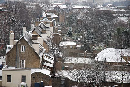 Snow in Brixton, London SW9, January 2007