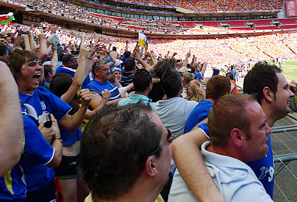 Blackpool 3 Cardiff City 2, Championship Play Off Final, Wembley, Saturday 22nd May, 2010