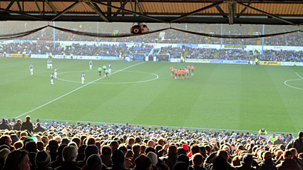 View from the Bob Bank, Cardiff 1 Plymouth Argyle 0 Championship, December 28th 2008, Ninian Park, Cardiff