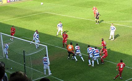Qpr Stadium QPR 1 Cardiff 0...