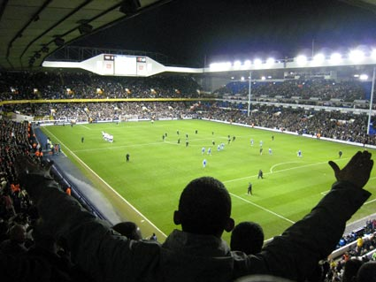 Tottenham Hotspur 4 Cardiff 0, FA Cup 3rd Round replay January 17th 2007