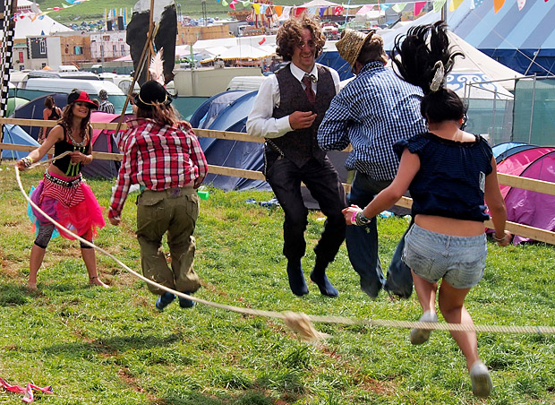 Boomtown Fair festival 2012 at The Bowl, Matterley Estate, nr. Winchester, Hampshire with music, theatre, comedy and art, Thursday 9th until Sunday 12th August 2012