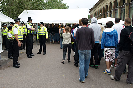 Strawberry Fair, Cambridge. Police harassment galore.