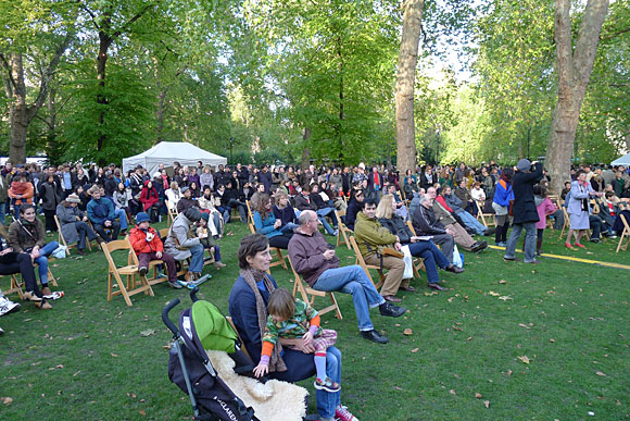 Photos of the Bloomsbury Festival 2010 at Russell Square Gardens, central London, 23rd October, 2010