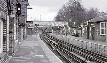Epping to Ongar railway line and stations at Blake Hall and