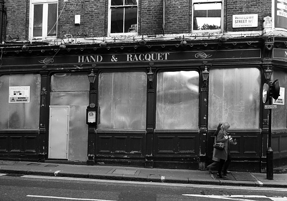 Hand & Racquet pub, Orange Street and Whitcomb Street, London WC2 - closed pubs of London