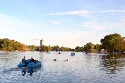 Pedalo fun in London town