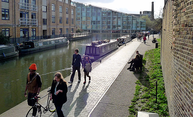 Photos of King's Cross Central redevelopment and Regent's Canal, central London, 10th April 2012