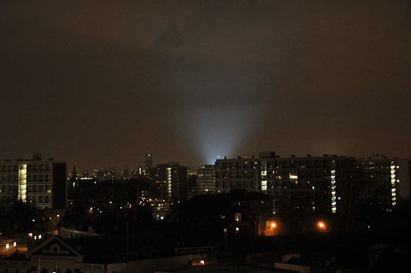 Bright light over London. Are we calling Batman?