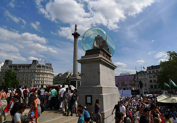 Nelson's Ship in a Bottle and Gay Pride, Trafalgar Square