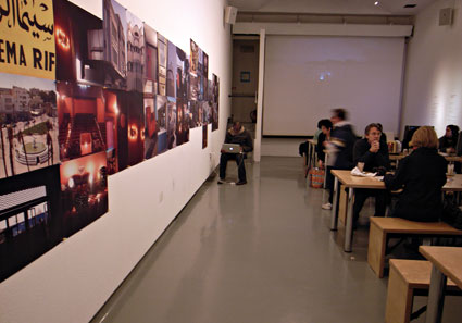 Taking lunch at the Photographer's Gallery , Covent Garden