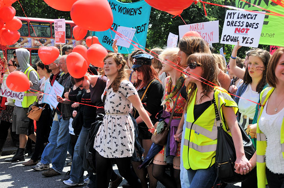 London Slutwalk from Piccadilly to Trafalgar Square, Saturday June 11th 2011