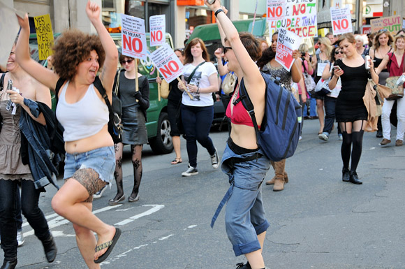 London Slutwalk from Piccadilly to Trafalgar Square, Saturday June 11th 2011