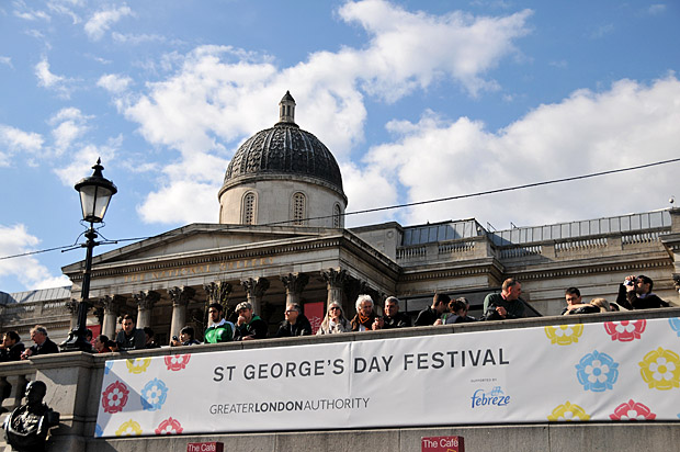 St George's Day festival, Trafalgar Square, central London, Saturday 21st April 2012