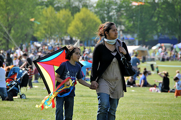 Streatham Common Kite Day, Streatham Common, Lambeth, London SW16, 10th April 2011