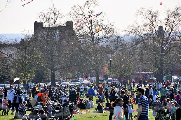 Streatham Kite Day, Streatham Common, south London, 1st April 2012
