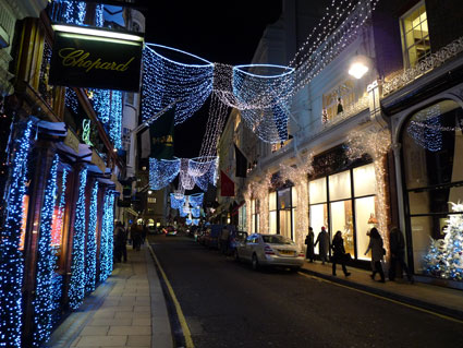 Christmas Decorations Central London West End Soho And