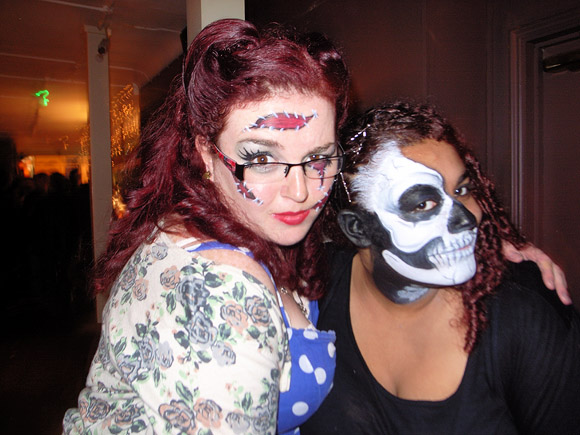 Fri 28th October 2011, Halloween Party with Diaphragm Failure at the Brixton Offline Club, Prince Albert, 418 Coldharbour Lane, Brixton, London SW9, playing ska, electro, indie, punk, rock'n'roll, big band, rockabilly and skiffle