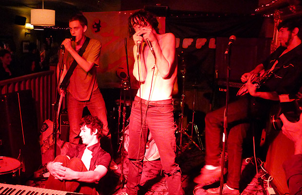 Friday 31st May 2013: FAT WHITE FAMILY band live at Brixton Offline Club, Prince Albert, 418 Coldharbour Lane, Brixton, London SW9