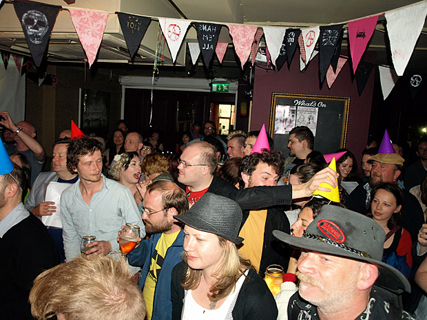 Fri 1st JUNE 2012: HONKY TONK MUSIC HALL VS THRASH ROCK with Mrs Mills Experience and Atomic Suplex live at the Brixton Offline Club, Prince Albert, 418 Coldharbour Lane, Brixton, London SW9