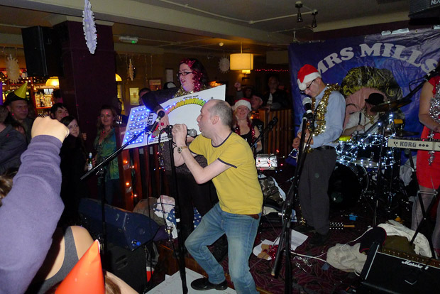 Fri 21st DECEMBER 2012: THE GREAT BRIXTON SINGALONG with the Mrs Mills Experience and Sleighed!, plus Vic Lambrusco and more at the Offline Club at the Prince Albert, 418 Coldharbour Lane, Brixton, London SW9