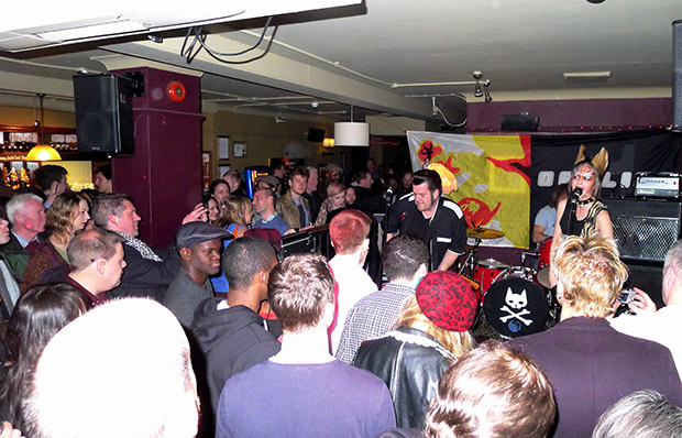 Fri 20th April 2012: Pussycat and the Dirty Johnsons live at the Brixton Offline Club, Prince Albert, 418 Coldharbour Lane, Brixton, London SW9