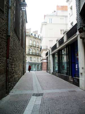 medieval streets bouffay district nantes france. Black Bedroom Furniture Sets. Home Design Ideas