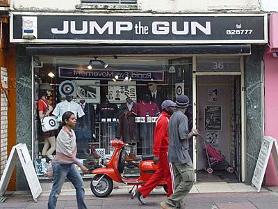 Jump the Gun mod clothes shop, 36 Gardner Street, Brighton, East