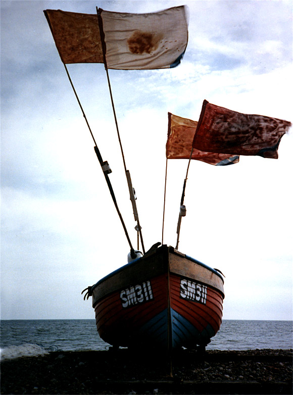 Boat with flags, Worthing, Sussex