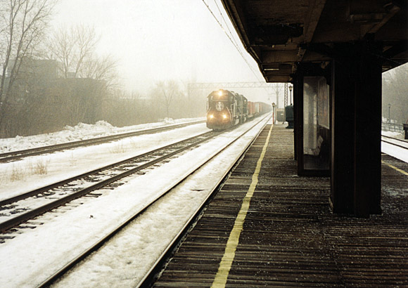 57th Street station, Chicago, winter of '99