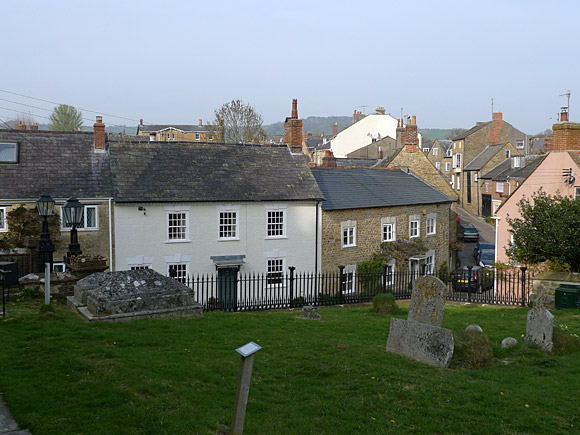 Photos of the streets, churches, architecture and sights of Beaminster, west Dorset, south England, April 2010