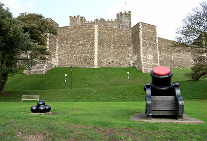 Castle and Keep, photos taken around Dover Castle, on the south ...