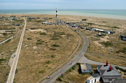 Dungeness lighthouse, Dungeness, Romney Marsh, on the south coast of Kent, England