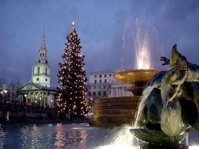 Trafalgar Square, Christmas