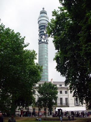 BT Telecom Tower from Fitzroy Square