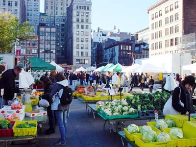 Union Square farmer's market, 14th Street, Manhattan, New York