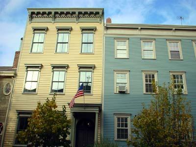 Old houses, Middagh Street, Brooklyn Heights, Brooklyn ...
