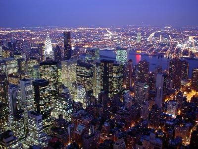 ... State 3 - looking east towards Queens, Manhattan, New York, NYC, USA  Ny