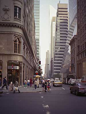 Midtown Scene 53rd Street Manhattan New York Nyc Usa
