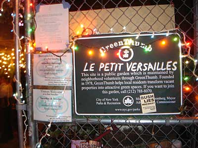 Le Petit Versailles, GreenThumb garden, 346 East Houston St