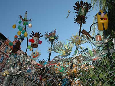 Community Garden Ornaments Avenue C East Village Manhattan New York Nyc Usa